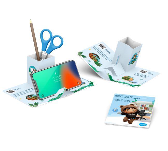 D16683_Gerecycled_kartonnen-bureauset POP Up kartonnen telefoonhouders - ProCreative   Relatiegeschenken & promotieartikelen