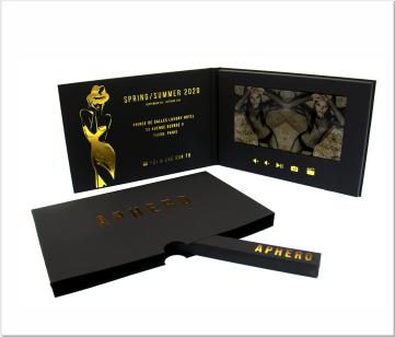 Aphero | A5 Video Brochure met LCD beeldscherm