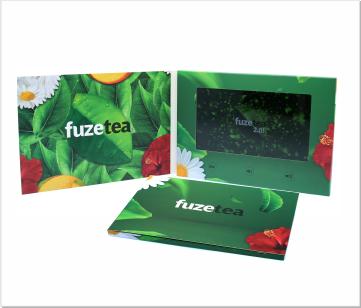 FuzeTea | Video Brochure met LCD beeldscherm