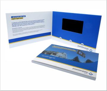 Janssen Bouw | A5 Video Brochure met 4.3 inch beeldscherm