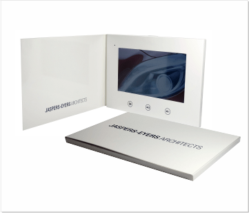 Jaspers-Evers | A5 Video Brochure met 7 inch beeldscherm
