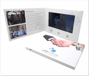 JobVision | A5 Video Brochure met 7 inch beeldscherm