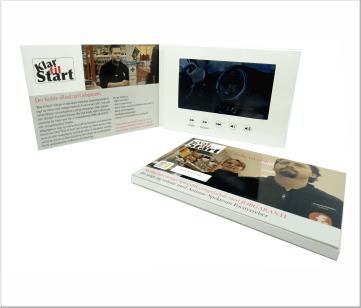 Klare&Start | A5 Video Brochure met 7 inch beeldscherm