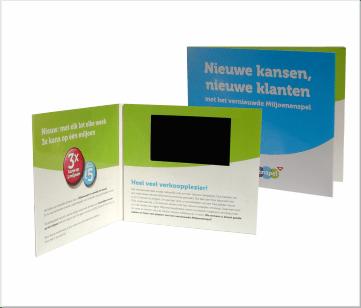 Miljoenspel | A6 Video Brochure met 4.3 inch beeldscherm