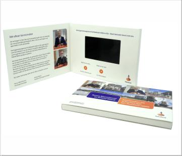 Rabobank | A6 Video Brochure met LCD beeldscherm