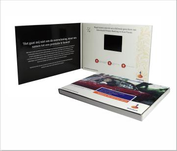 Rabobank | A6 Video Brochure met 2.4 inch beeldscherm