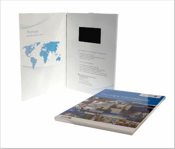 Thuringa | A4 Video Brochure met 4.3 inch beeldscherm