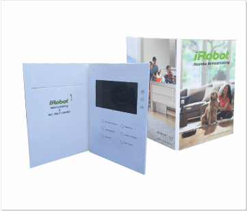 IRobot | A4 Video Brochure met 7 inch beeldscherm