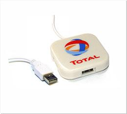 D1326 - USB Webbutton Vierkant Hub