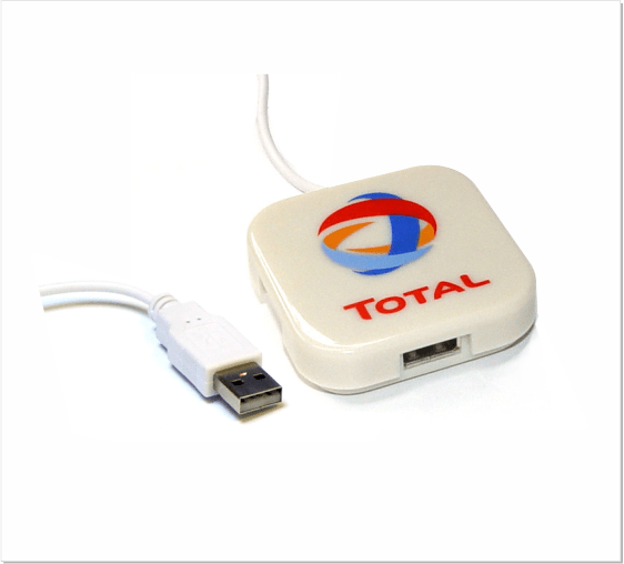 D1326 USB Webbutton Vierkant Hub
