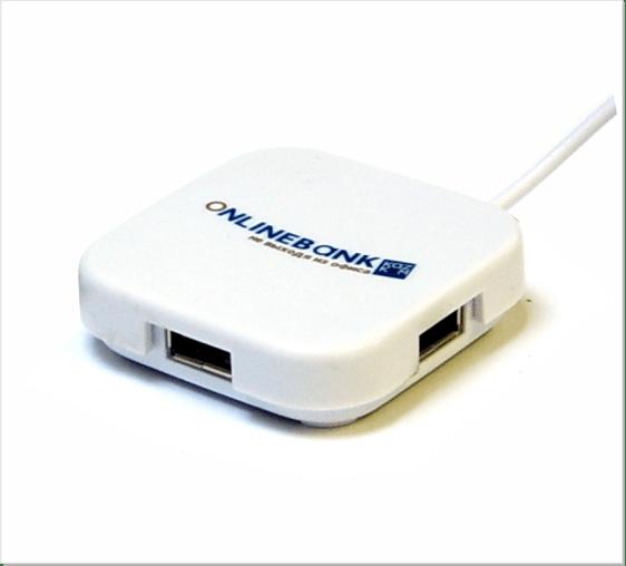 D1326 USB Webbutton Vierkant Hub 1